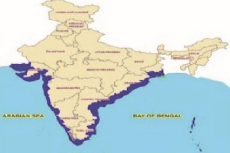 The coastlines of India