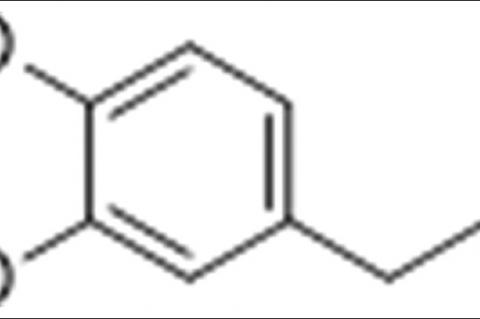 Chemical structure of eugenol